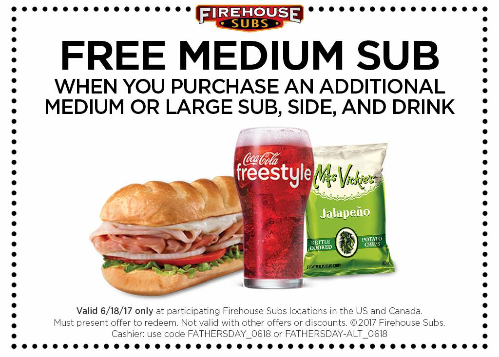 firehouse subs fathers day