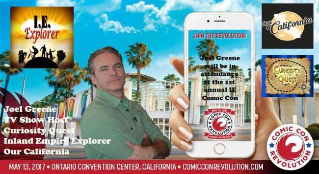Joel Greene Slated to Join the Inland Empire's 1st Annual Comic Con in Ontario