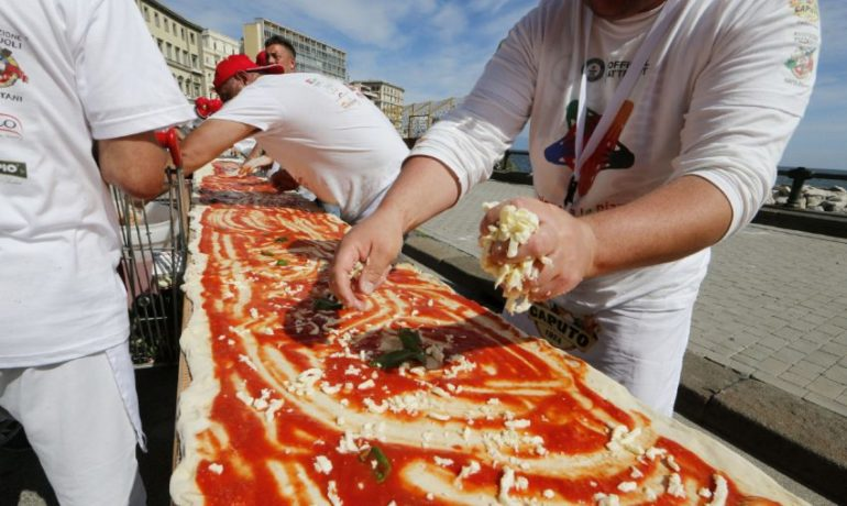The World's Longest Pizza Record comes back to the USA via the Inland Empire